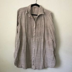 Free People Long Sleeve Tunic with Pockets SZ L